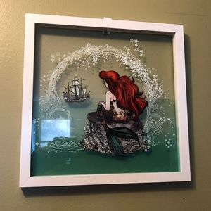 This is brand new little mermaid sitting on a rock
